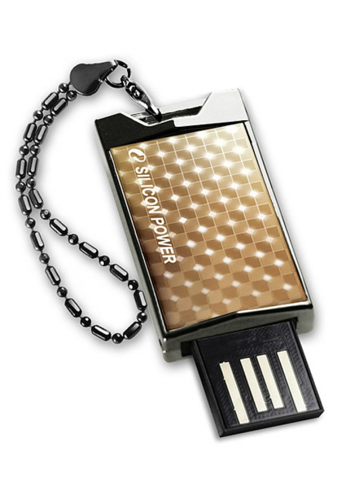 USB Flash Drive 32Gb - Silicon Power Touch 851 Gold SP032GBUF2851V1G<br>