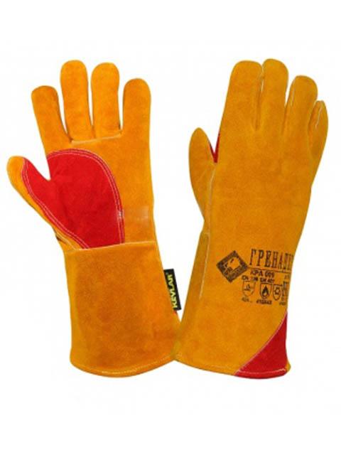 Краги сварщика ТД Спецперчатка Гренадер размер 10.5 Yellow КРА009