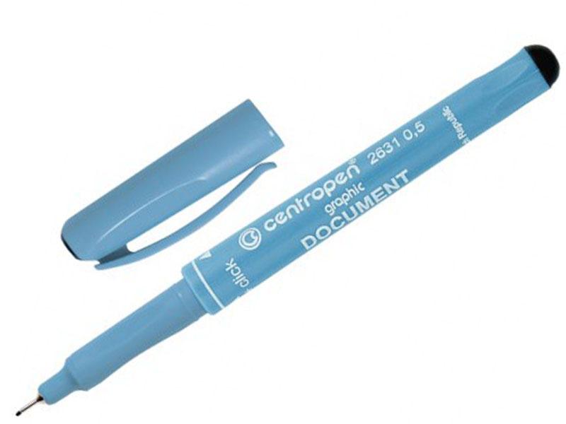 Ручка капиллярная Centropen Document 0.5mm Black 2631/0,5