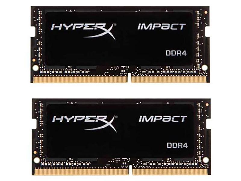 Модуль памяти HyperX Impact DDR4 SO-DIMM 2400MHz PC-19200 CL14 - 32Gb KIT (2x16Gb) HX424S14IBK2/32