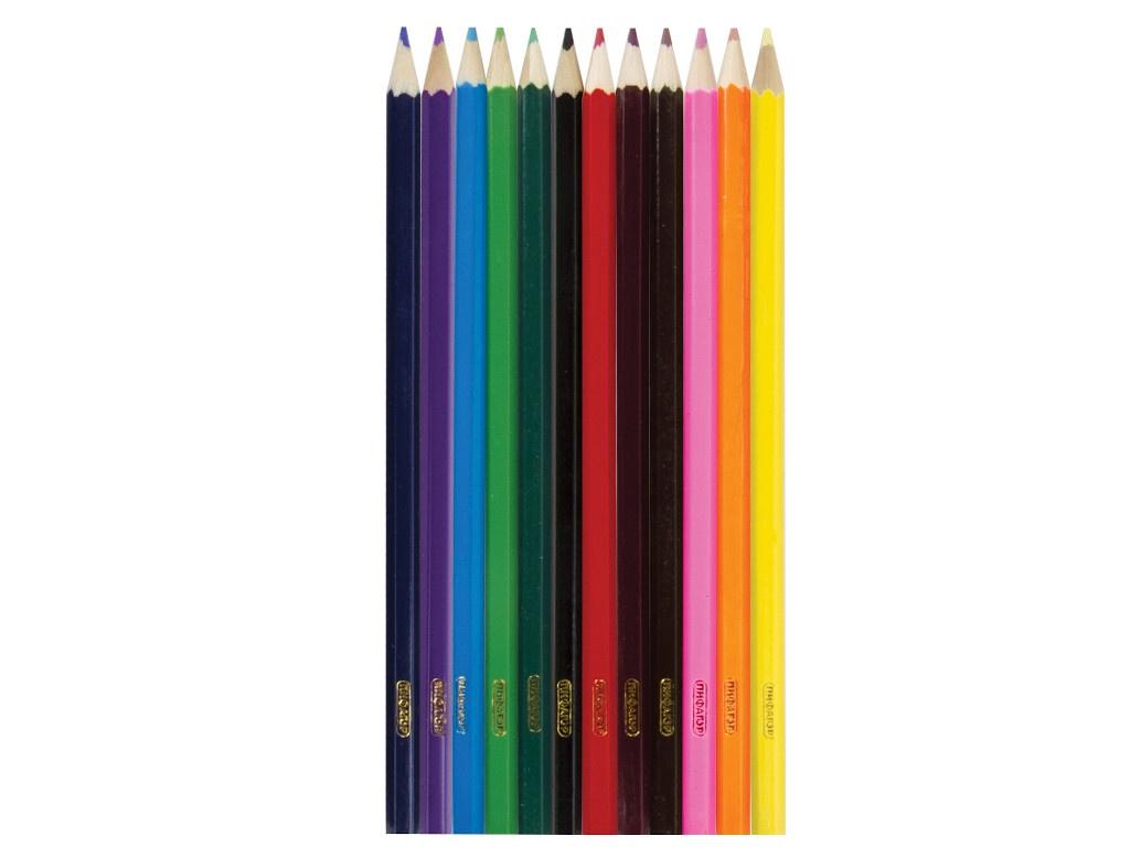 Карандаши цветные Пифагор Бабочки 12 цветов 181351 восковые карандаши пифагор 12 цветов 222962