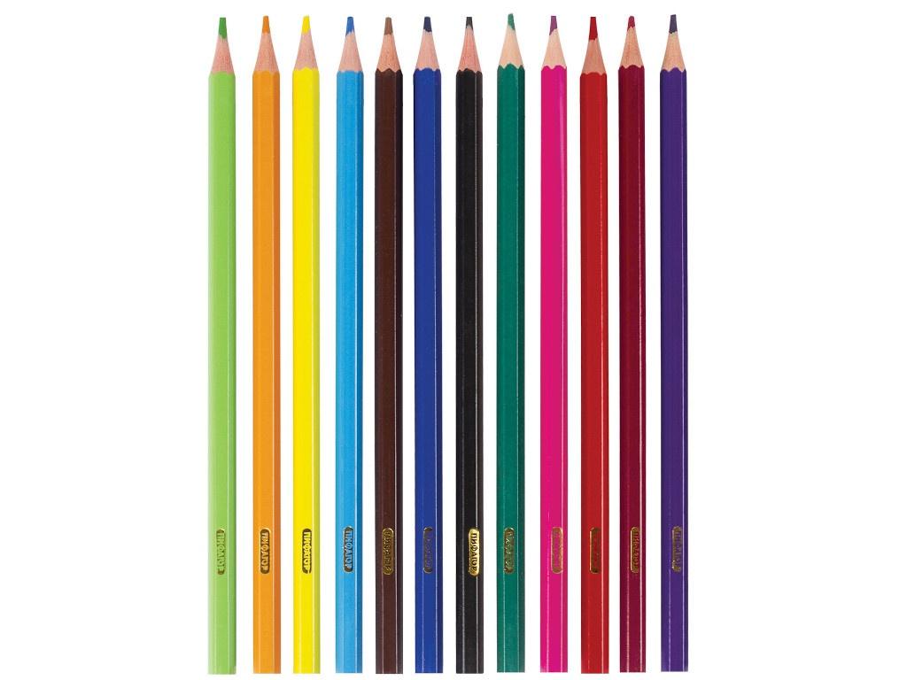 Карандаши цветные Пифагор Лесные жители 12 цветов 181334 восковые карандаши пифагор 12 цветов 222962