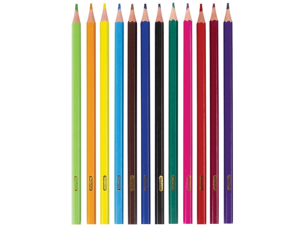 Карандаши цветные Пифагор Замок 12 цветов 181339 восковые карандаши пифагор 12 цветов 222962
