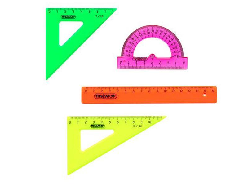 Набор чертежный малый Пифагор Neon 210625