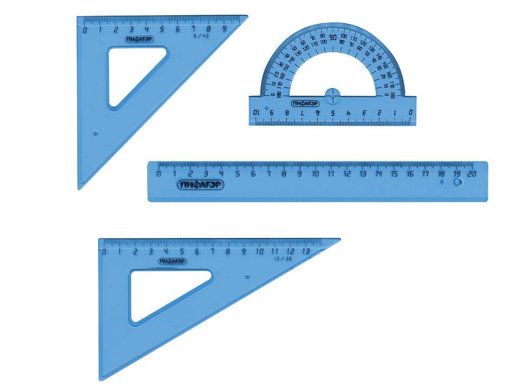 Набор чертежный средний Пифагор Toned 210628