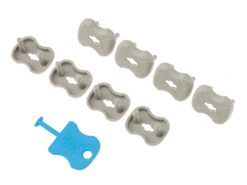 Набор заглушек для розеток Roxy-Kids 8шт Graphite RSG-002