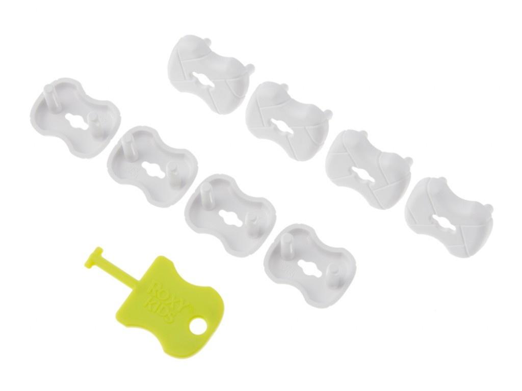 Набор заглушек для розеток Roxy-Kids 8шт White RSG-002G