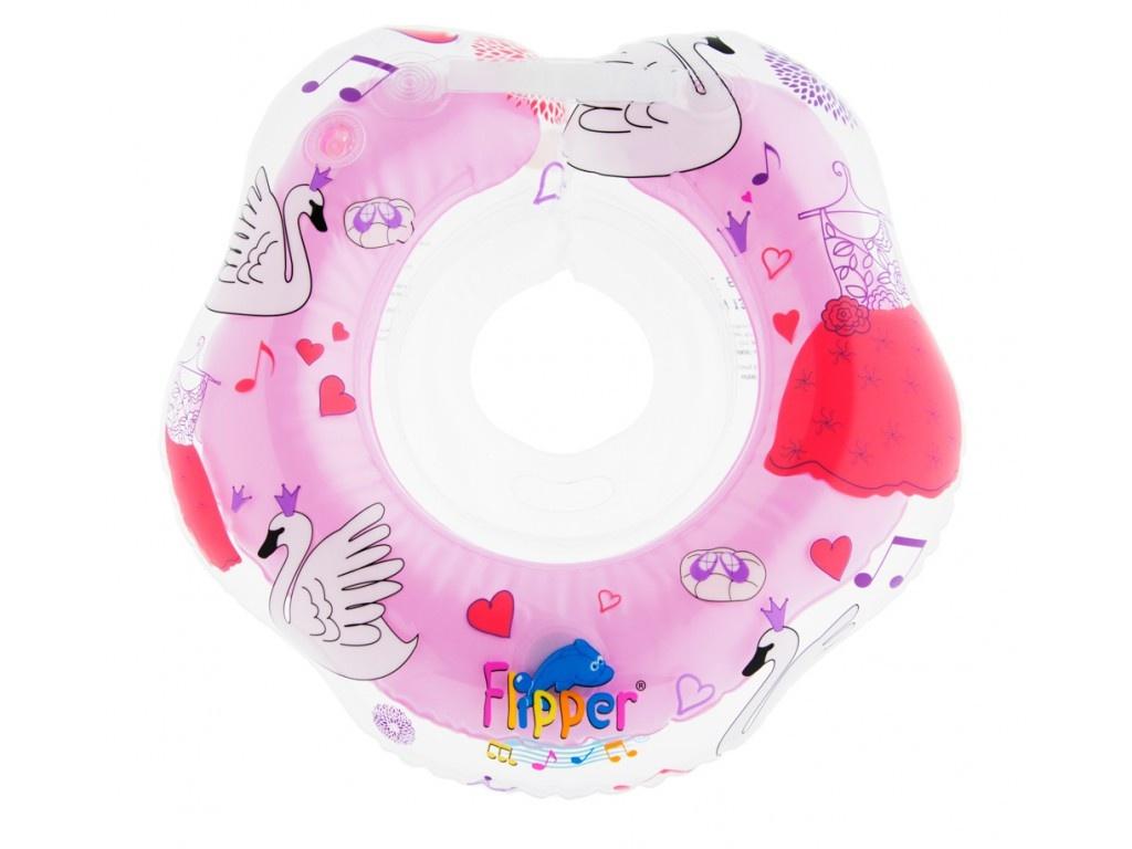 Круг для купания Roxy-Kids Flipper 0+ с музыкой из балета Лебединое озеро Pink FL005