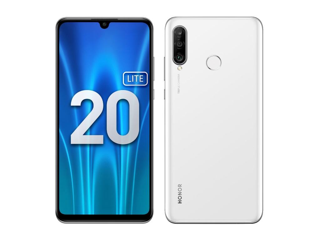 Сотовый телефон Honor 20 Lite 4Gb/128Gb Pearl White Выгодный набор + серт. 200Р!!!