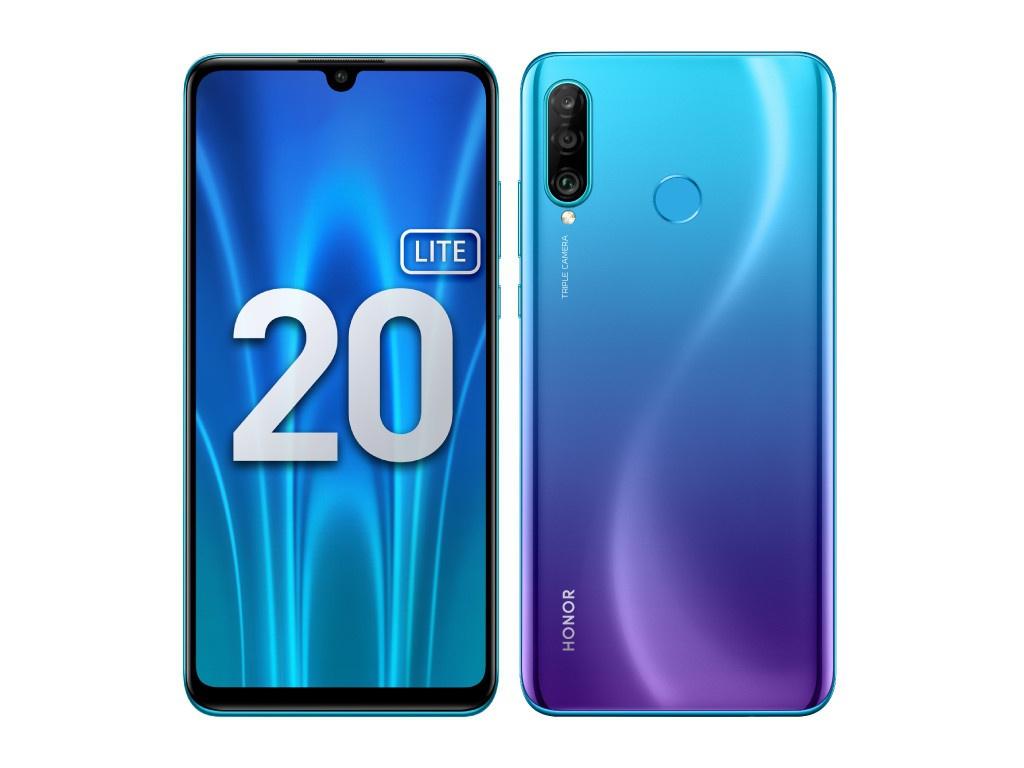Сотовый телефон Honor 20 Lite 4Gb/128Gb Peacock Blue Выгодный набор + серт. 200Р!!!