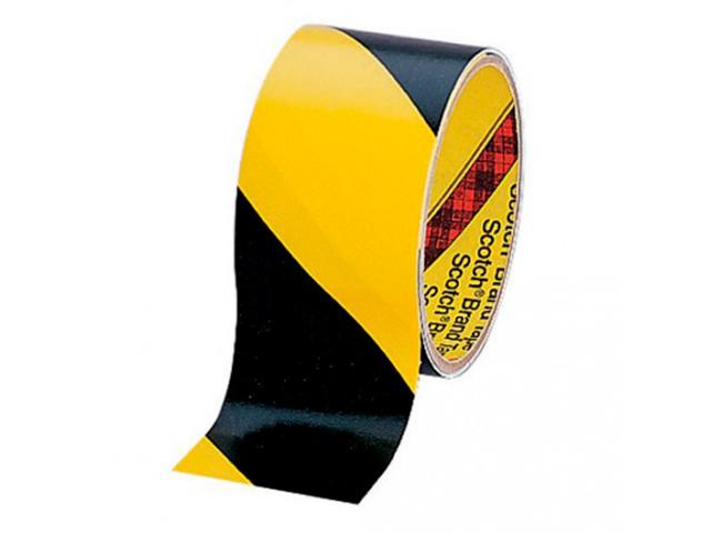 Клейкая лента 3M 5702 50mm x 33m Black-Yellow 7000017005