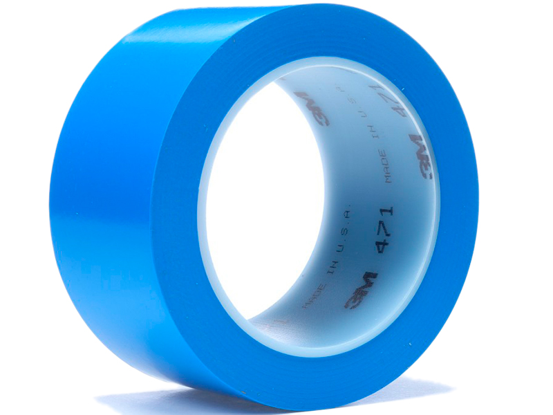 Клейкая лента 3M 471 50mm x 33m Blue 4100016349