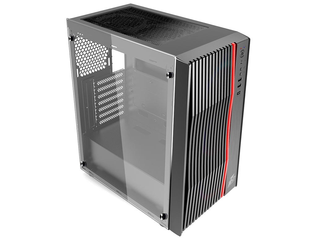 Корпус 1stPlayer Firerose F5 Tempered Glass Side Panel без БП