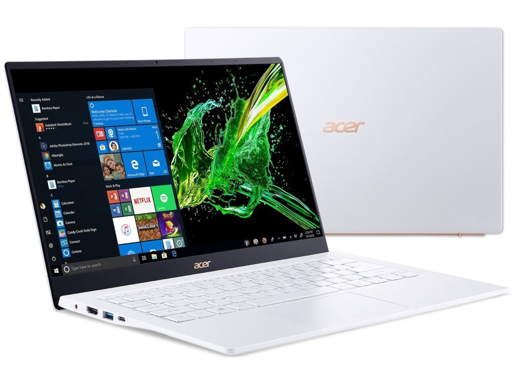 Ноутбук Acer Swift 5 SF514-54T-70R2 White NX.HLHER.002 (Intel Core i7-1065G7 1.3 GHz/16384Mb/1024 SSD/Intel HD Graphics/Wi-Fi/Bluetooth/Cam/14.0/1920x1080/Touchscreen/Windows 10 Home 64-bit)