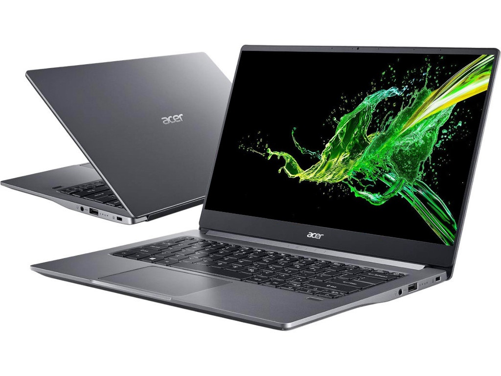 Ноутбук Acer Swift 3 SF314-57-75NV Grey NX.HJGER.003 (Intel Core i7-1065G7 1.3 GHz/16384Mb/1024Gb SSD/Intel HD Graphics/Wi-Fi/Bluetooth/Cam/14.0/1920x1080/Only boot up)
