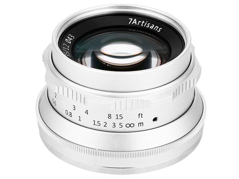 Объектив 7Artisans Micro 4/3 35 mm f/1.2 Silver 18004 цена и фото