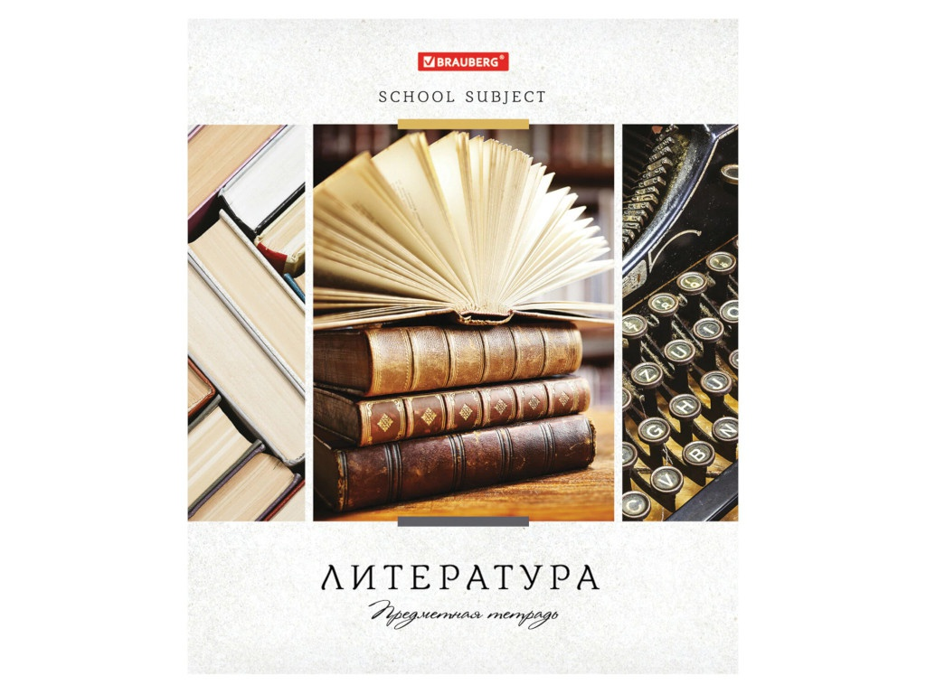 Тетрадь предметная Brauberg Ученье свет Литература 48 листов 403532