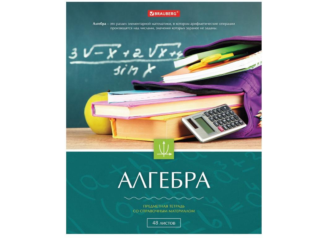 Тетрадь предметная Brauberg Классика Алгебра 48 листов 403513