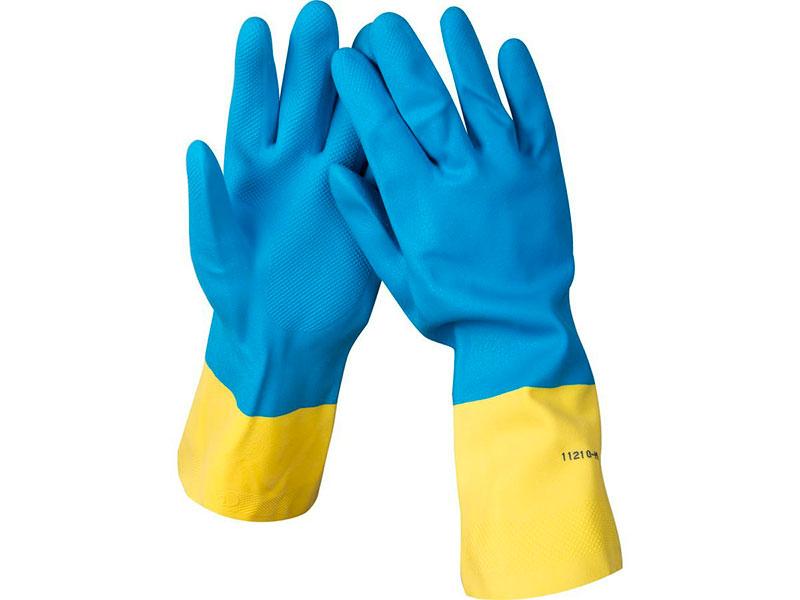 Перчатки латексные с неопреновым покрытием Stayer 11210-S