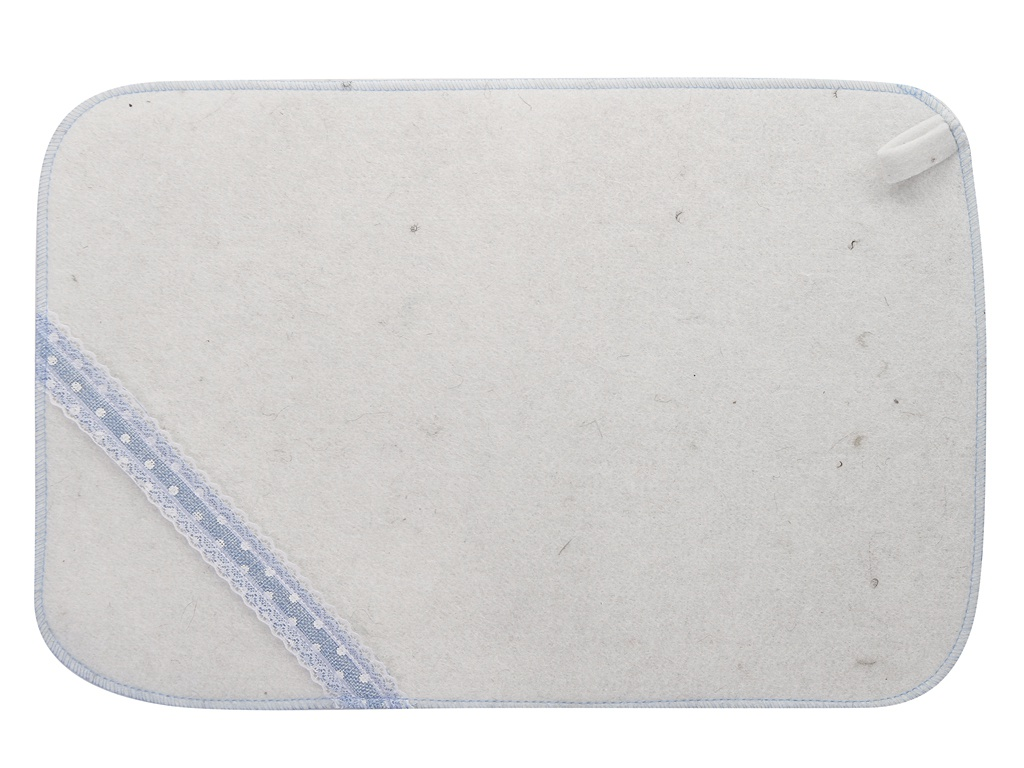 Коврик для бани Жар-Банька Норвежский 33x50cm White-Turquoise