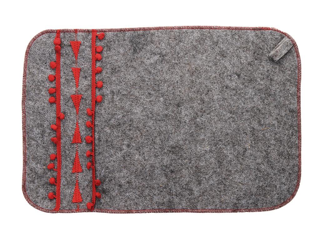 Коврик для бани Жар-Банька Норвежский 33x50cm Grey-Red