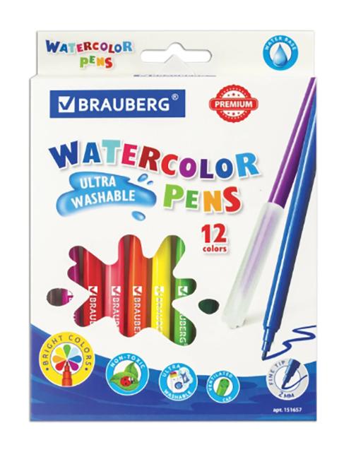 Фломастеры Brauberg Premium 12 цветов 151657