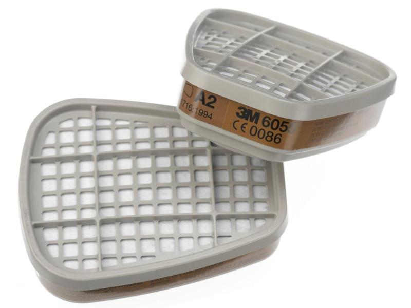 Фильтр для защиты от газов и паров 3M 6055 степень А2 2шт 7000034749