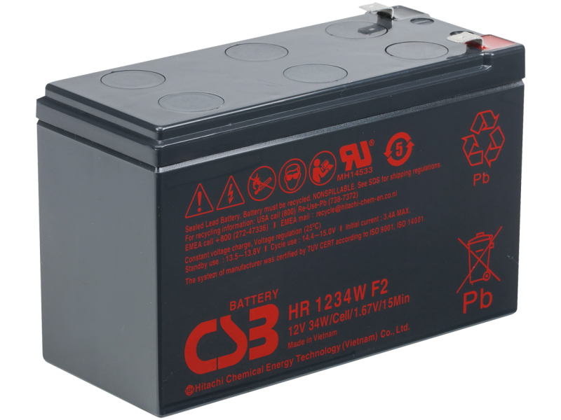Аккумулятор для ИБП CSB HR-1234W 12V 9Ah клеммы F2