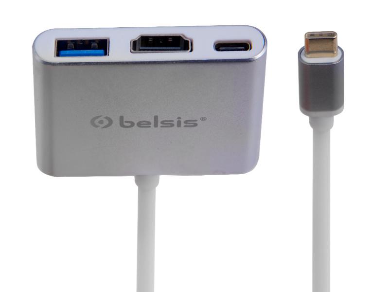 Фото - Аксессуар Belsis USB 3.1 Type C - HDMI 0.15m Silver BW8901 аксессуар lenovo plus power usb c to hdmi 4x90k86567