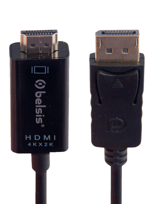 Аксессуар Belsis Display Port - HDMI 1.8m Black BW8805