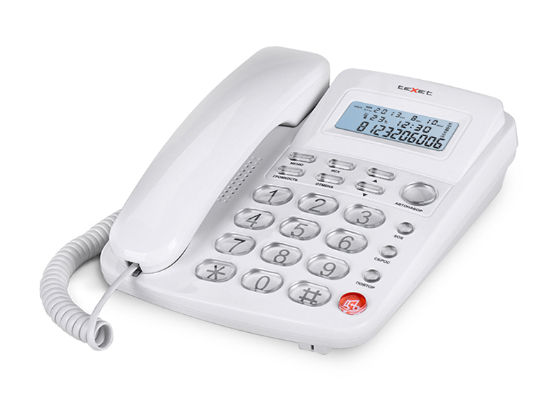 Телефон teXet TX-250 White