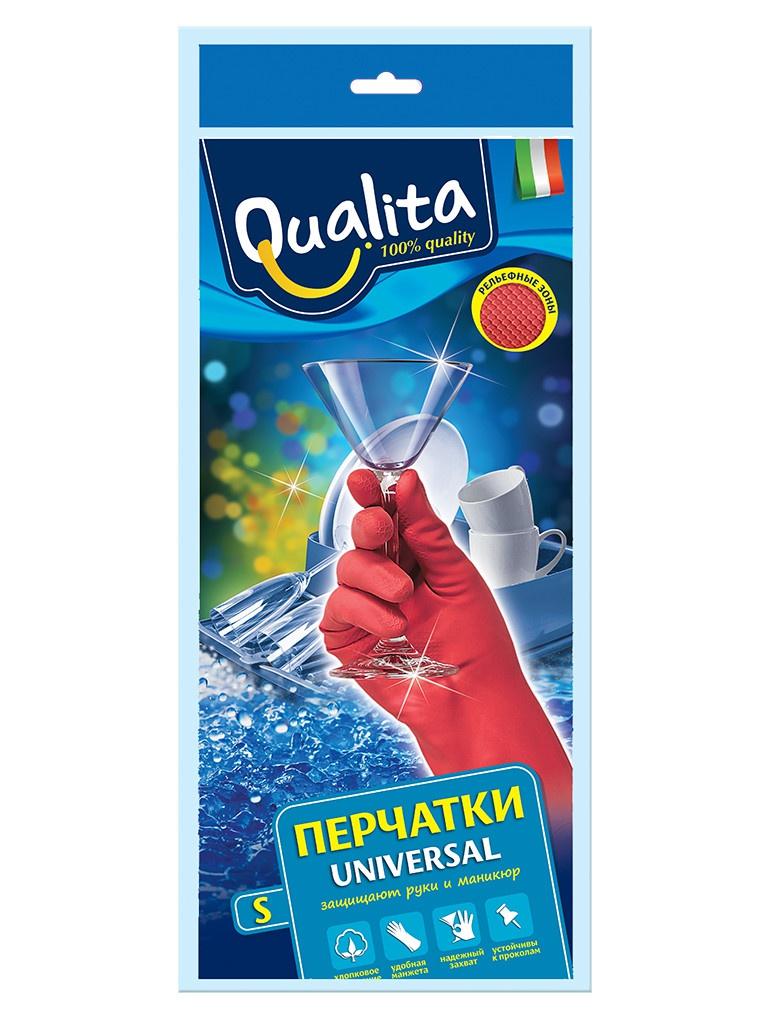 Перчатки хозяйственные Qualita Universal размер S 6265
