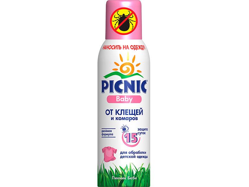 Средство защиты от комаров Picnic Baby аэрозоль 125cm 46 00104 03100 7