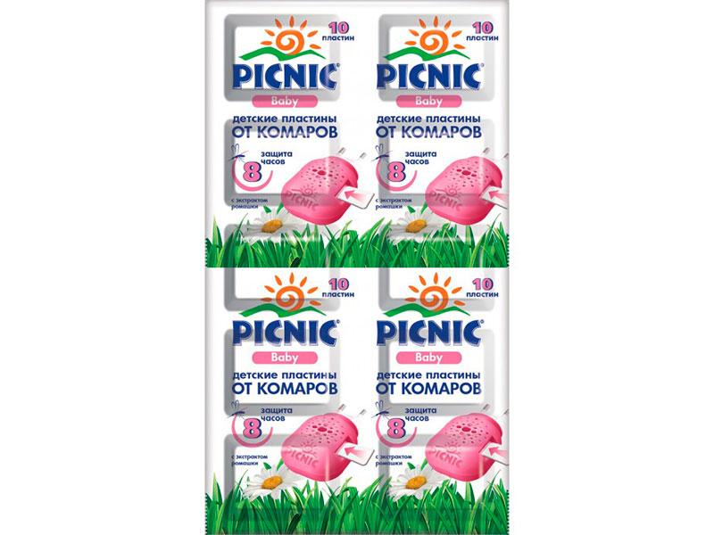 Средство защиты от комаров Picnic Baby пластины 10шт 46 00104 02305 7