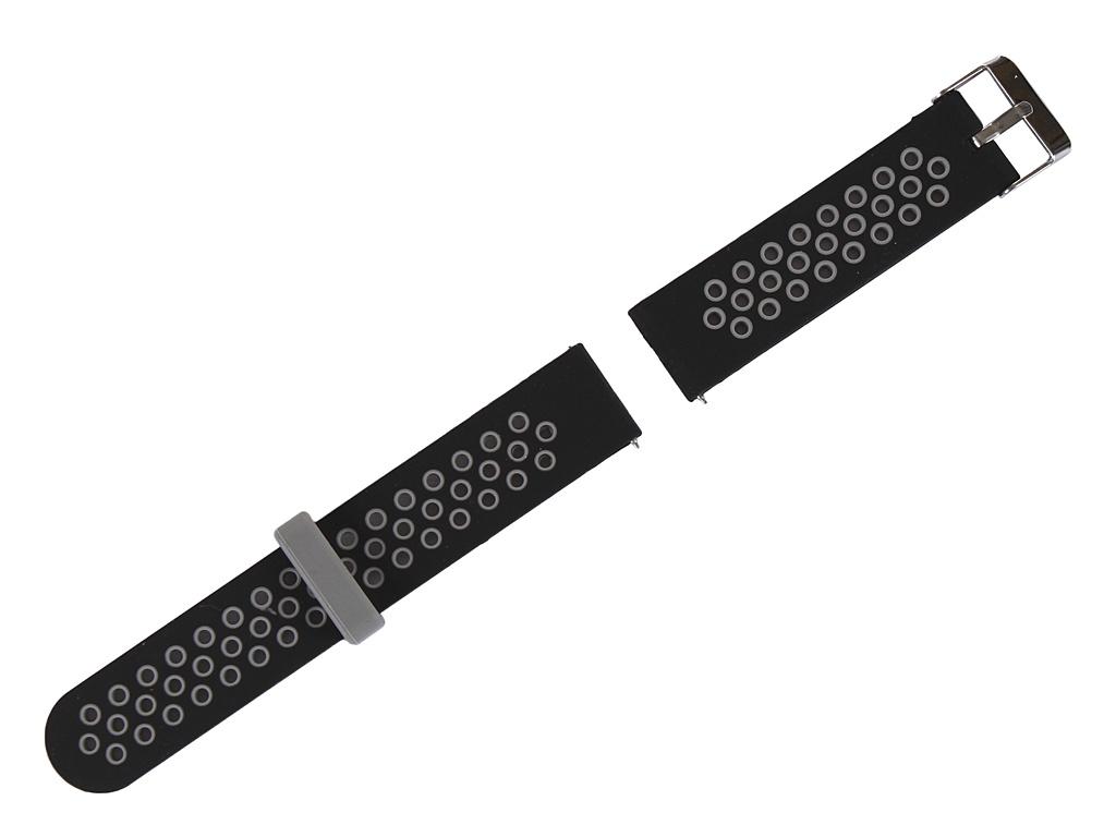 Аксессуар Ремешок Red Line для Xiaomi Amazfit Bip/GTS 20mm Silicone Black-Grey УТ000020336