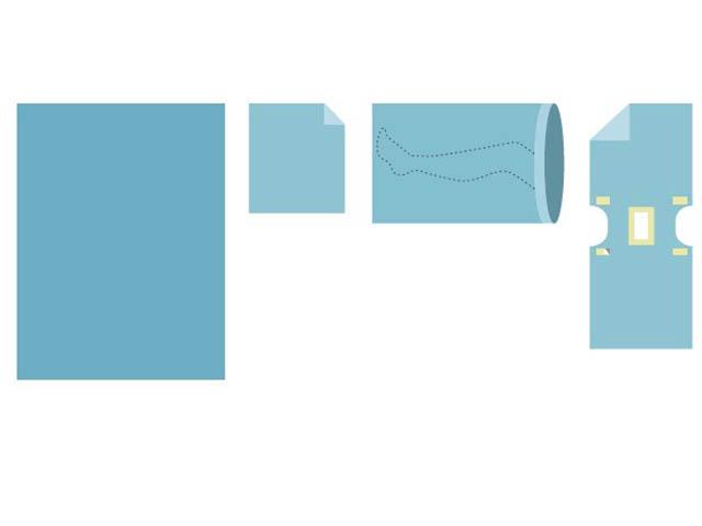 Комплект белья одноразовый Гекса КБО-05 хирургический, уро-гинекологический, стерильный 630105 фото