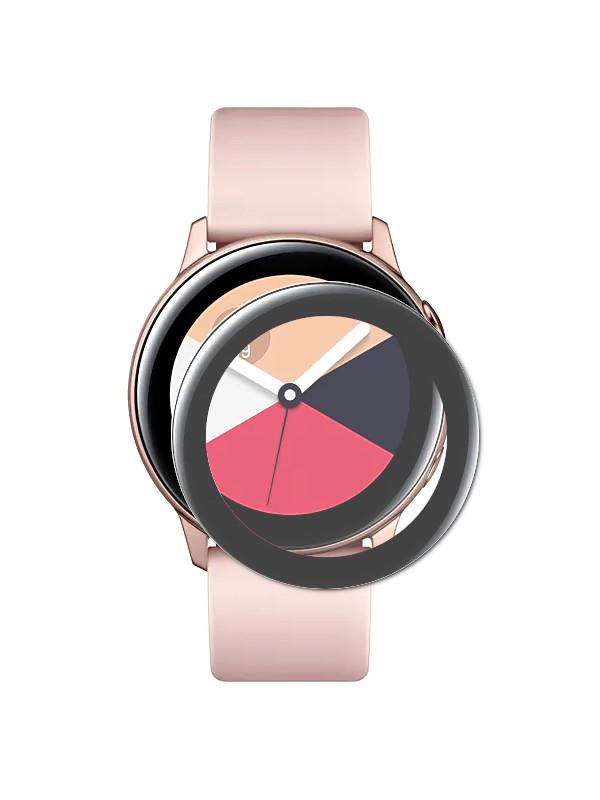 Аксессуар Защитное стекло Red Line для Samsung Galaxy Watch Active 3D Black УТ000020250
