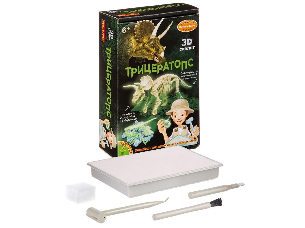 Игра Bondibon Исторические раскопки Науки с Буки Трицератопс ВВ4207