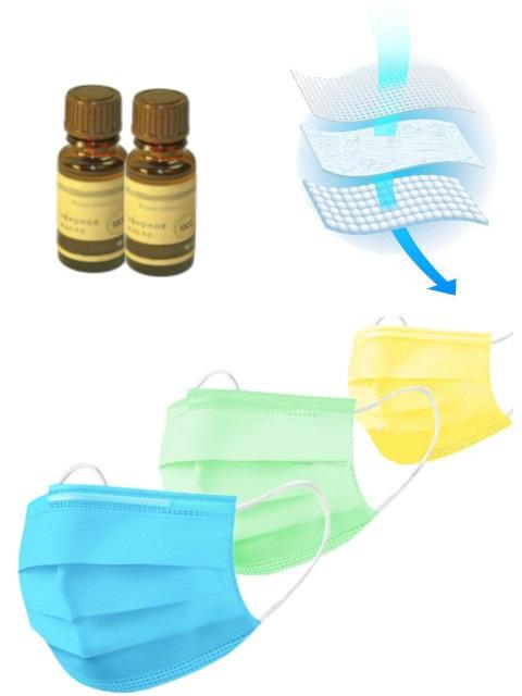 Масло эфирное Антивирусный барьер - 2 больших эфирных масла (по 15ml) Ель, маска трехслойная 3 штуки и вкладыш фото