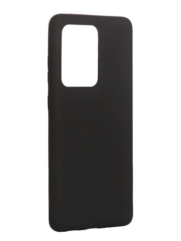 Чехол Brosco для Samsung Galaxy S20 Ultra TPU Black Matte SS-S20U-COLOURFUL-BLACK