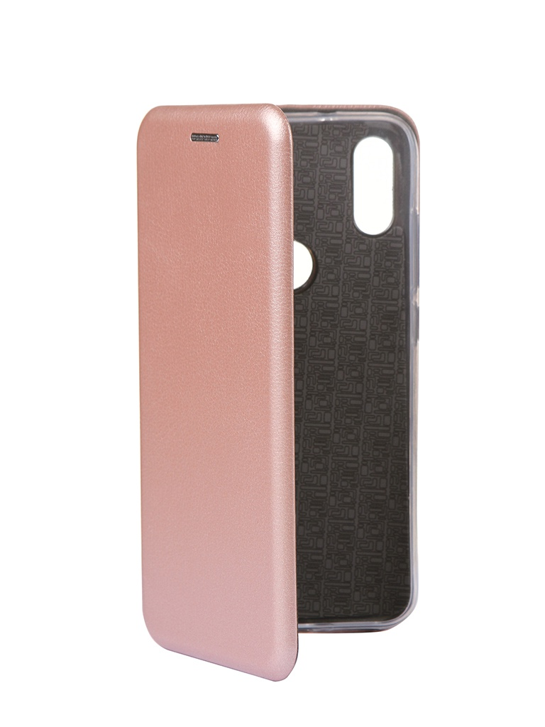 Чехол Innovation для Xiaomi Mi Play Book Silicone Magnetic Rose Gold 15428