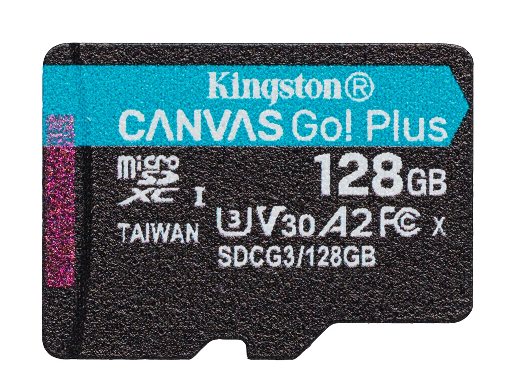 Карта памяти 128Gb - Kingston MicroSDHC 170R A2 U3 V30 Canvas Go Plus SDCG3/128GBSP