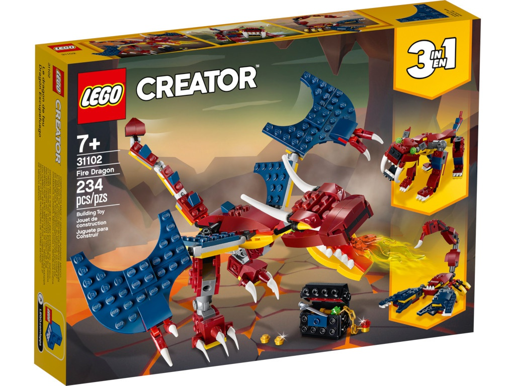 Конструктор Lego Creator Огненный дракон 234 дет. 31102 lego elves 41193 конструктор лего эльфы эйра и дракон песня ветра
