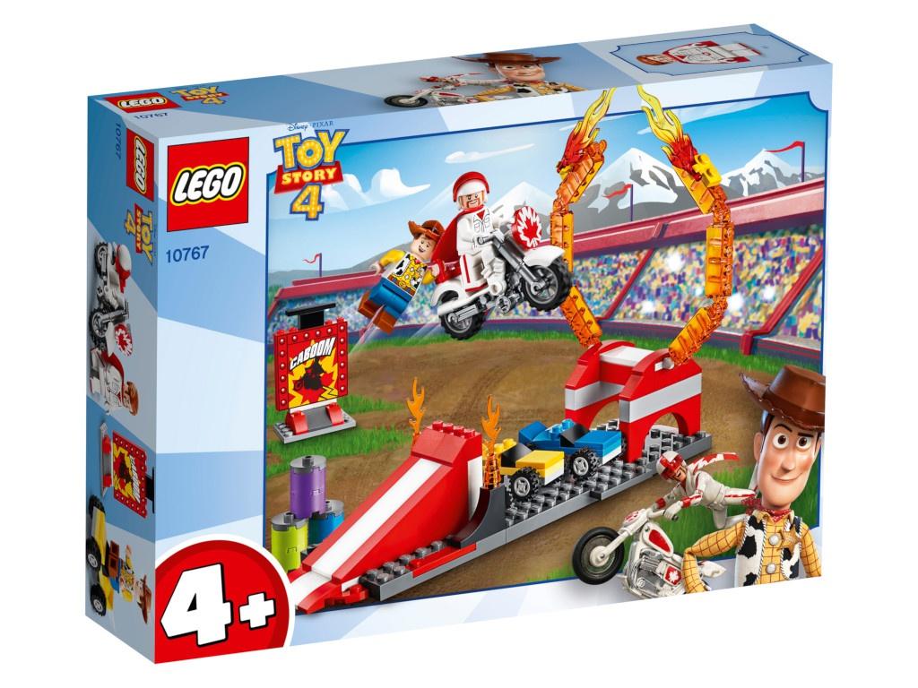 конструктор lego история игрушек 4 весёлый отпуск 10769 Конструктор Lego Juniors История игрушек-4 Трюковое шоу Дюка Бубумса 120 дет. 10767