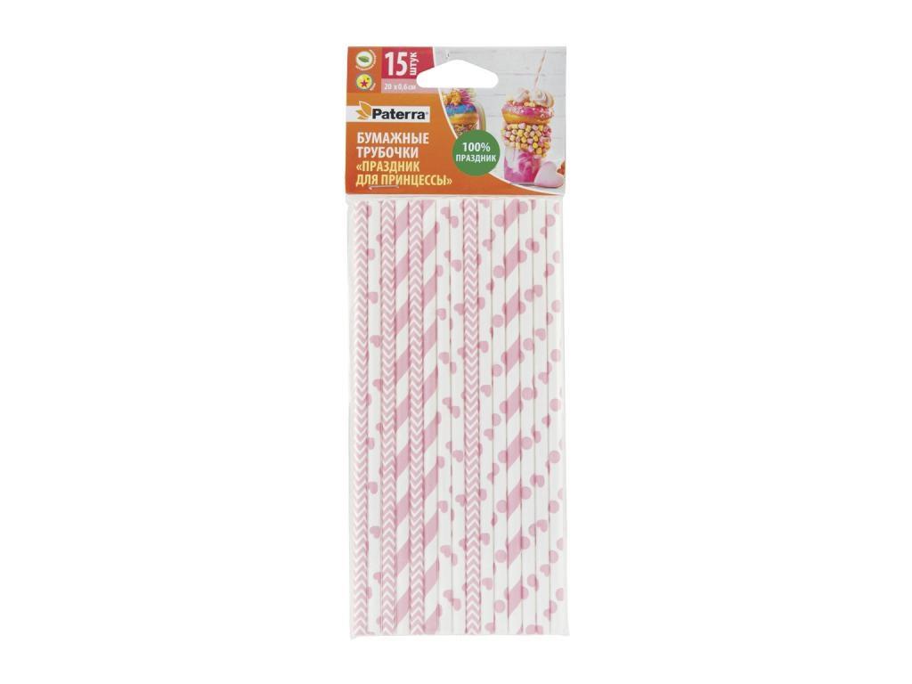 Бумажные трубочки Paterra Праздник для принцессы 6x200mm 15шт 401-894