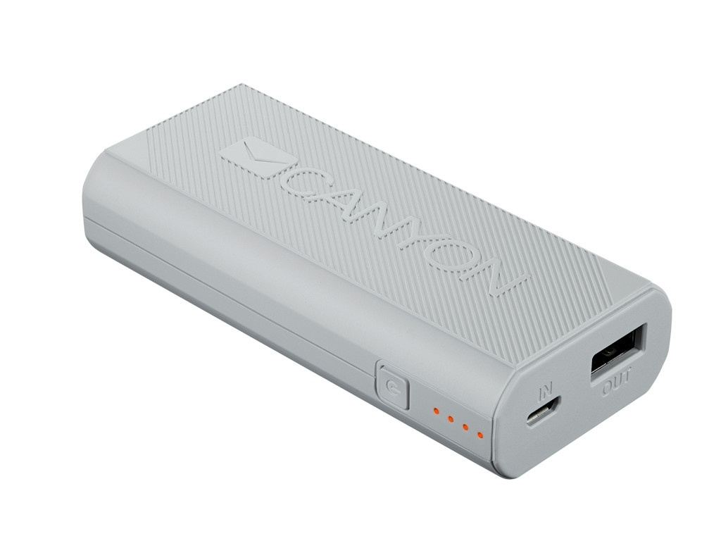 Внешний аккумулятор Canyon Power Bank 4400mAh White CNE-CPBF44W / H2CNECPBF44W