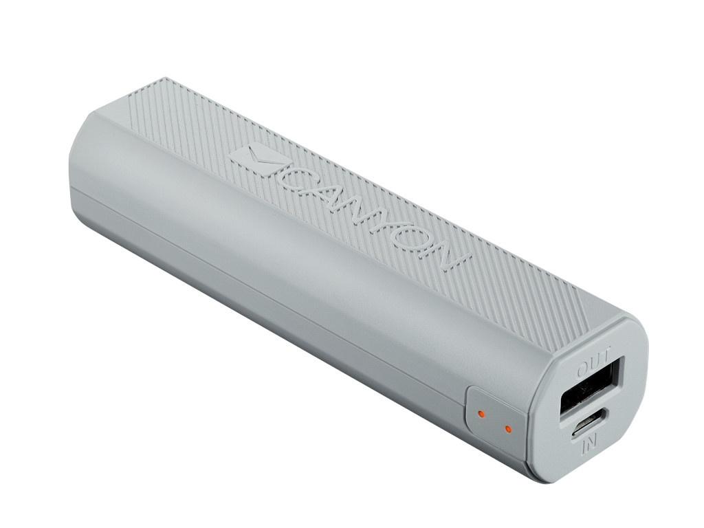 Внешний аккумулятор Canyon Power Bank 2600mAh White CNE-CPBF26W / H2CNECPBF26W