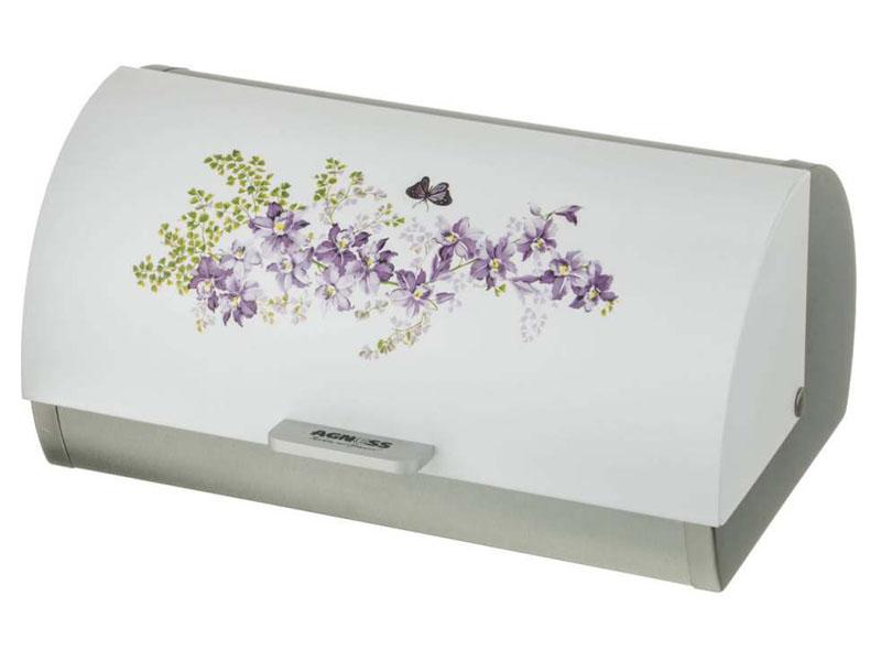 Хлебница Agness 938-030 Lilac