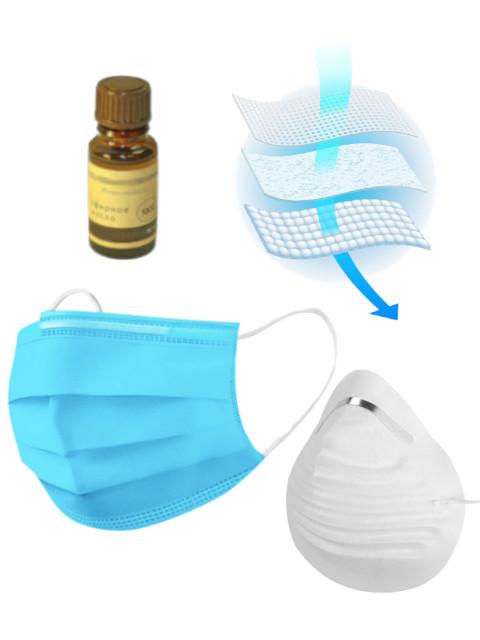 Масло эфирное Антивирусный барьер многоразовый - большое масло (15ml) Мята, маска трехслойная, защитная полумаска Sparta и вкладыш