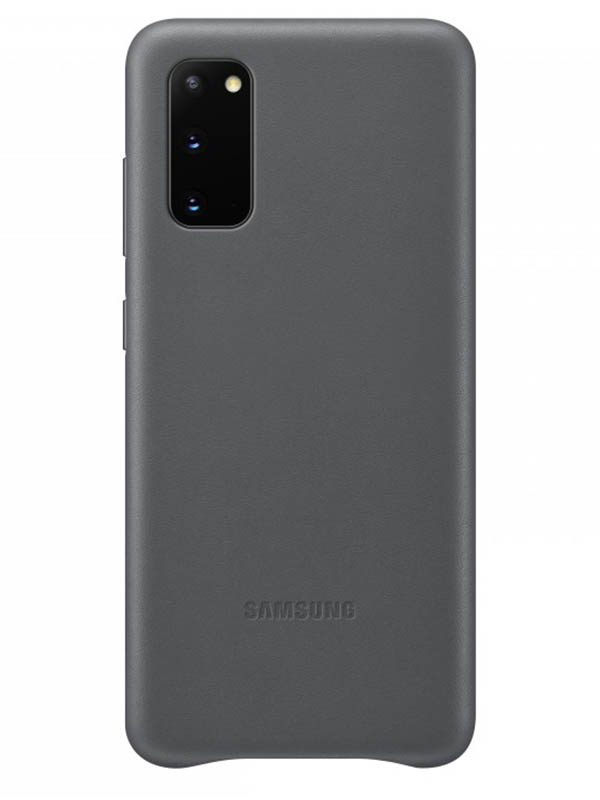Чехол для Samsung Galaxy S20 Leather Cover Grey EF-VG980LJEGRU